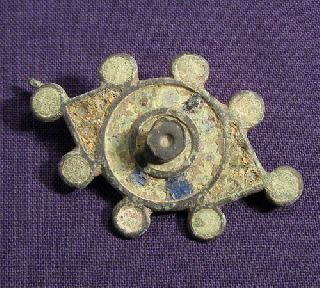 Roman Enameled Bronze Brooch / Fibula photo