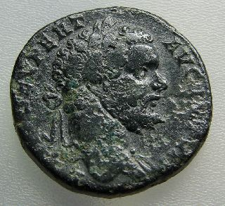 Septimius Severus 193-211 Ad Ae  Sestertius. Scarce. Ric 706. Uk Detecting Find. photo