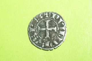 Rare Authentic Medieval Knights Templar Silver Coin Cross Crusade Old Crusader photo