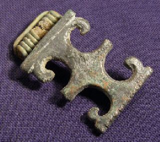 Unusual Roman Bronze Brooch / Fibula photo