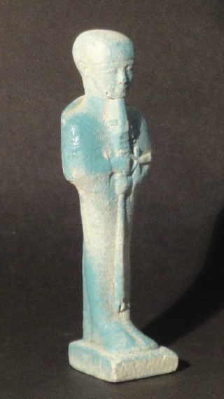 Egyptian Faience Statue Of Ptah, Late Period, Circa 664-332 B.c. photo