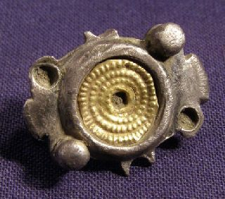 Interesting Roman Silver And Gold Brooch / Fibula photo