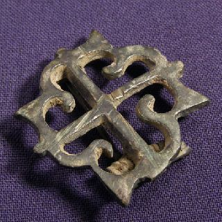 Roman Bronze Swastika / Axe Composite Brooch / Fibula - Rare photo