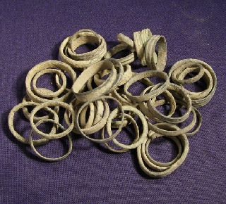 40 Uncleaned Celtic And Roman Bronze Hairring photo