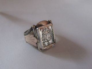 Victorian Silver/gold Ring From The Byzantine Order Of The Holy Sepulchre photo