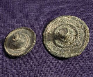 Two Roman Bronze Plate Brooch / Fibula photo