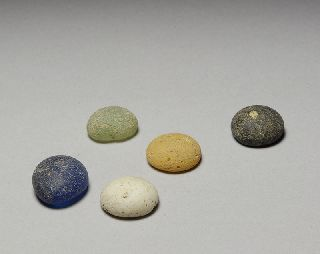 Authentic Ancient Roman Glass Gaming Counter Token Gambling Antique 100 A.d. photo