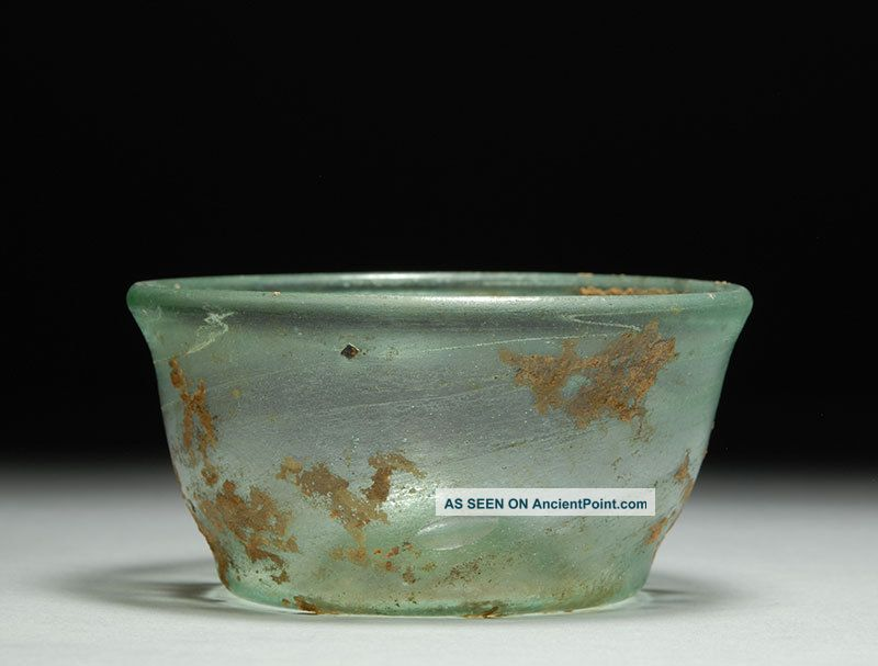 Ancient Roman Glass Bowl Or Dish Roman photo