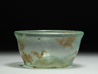 Ancient Roman Glass Bowl Or Dish photo