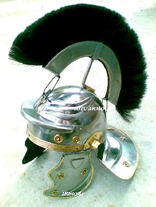Roman Centurion Helmet With Black Plume Collectible Roman Armor Helmet Replica photo