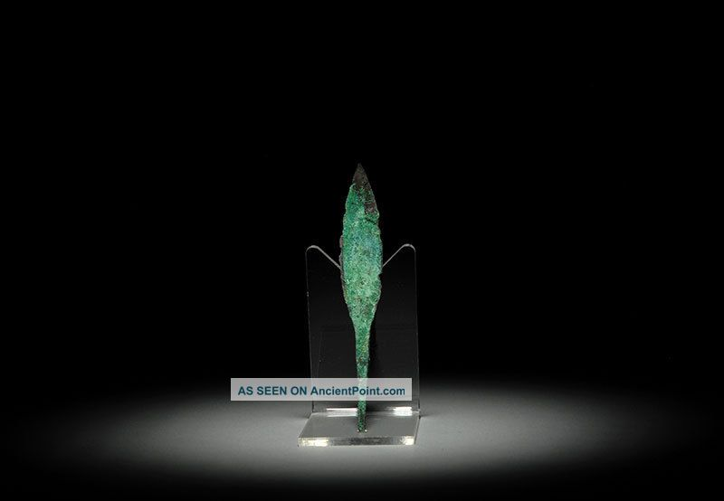 Ancient Persian Bronze Age Quad Arrow Head Weapon Near Eastern photo