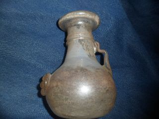 Grecian Bottle Jar From Digging Expedition Mint Condition Irridescent photo