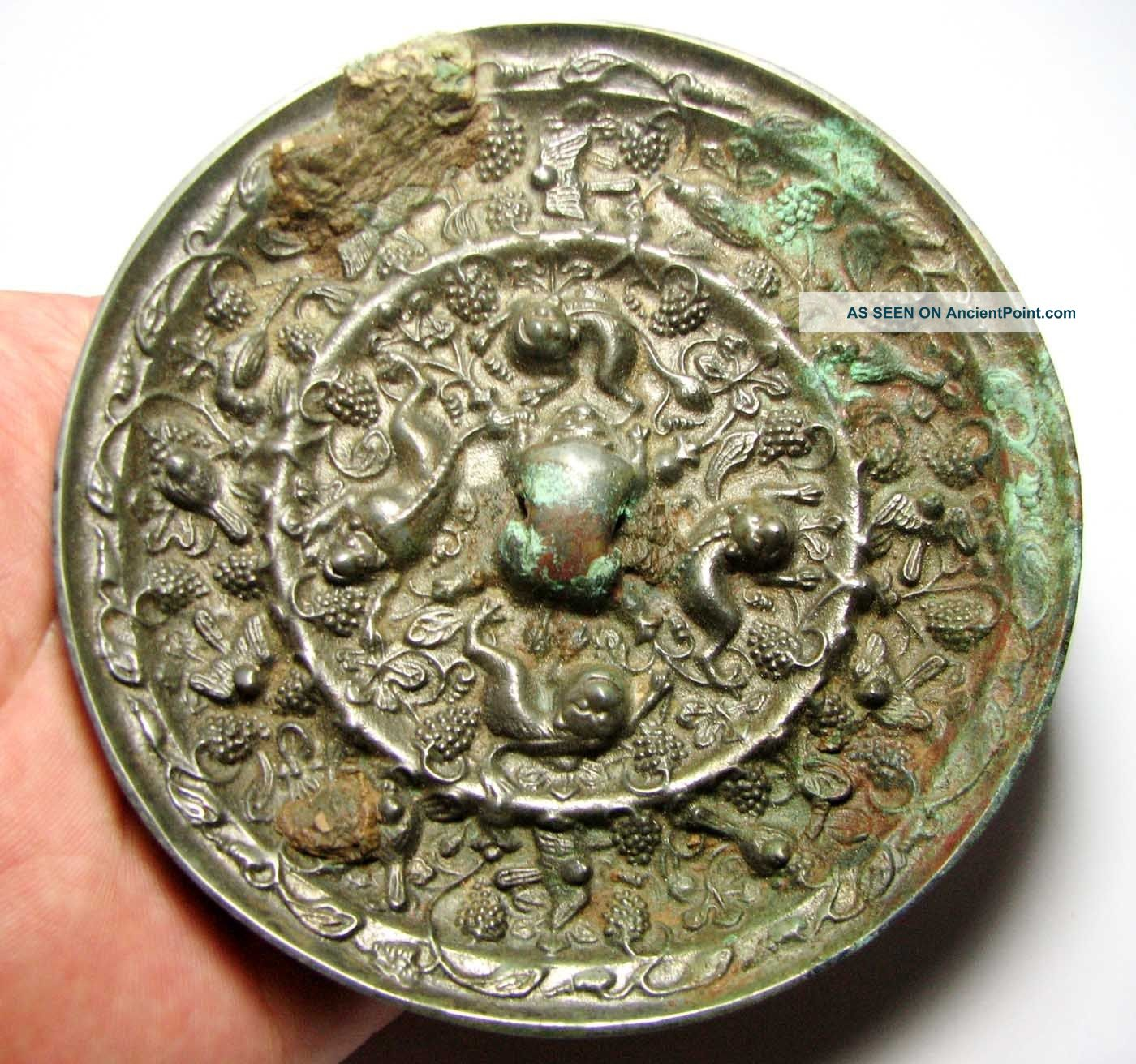 Matncat84 A Tang Dynasty Decorated Bronze Mirror Large And Heavy  B179 Other photo