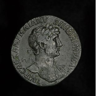 Ancient Roman Hadrian Sestertius - Felicitas Coin photo