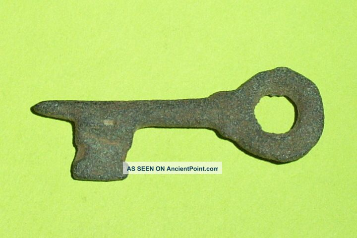 Authentic Medieval Key Old Rare Artifact Lock Tool Antiquity Rare Antique Roman photo