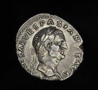 Ancient Roman Silver Denarius Coin Of Vespasian 69-79 A.d. photo