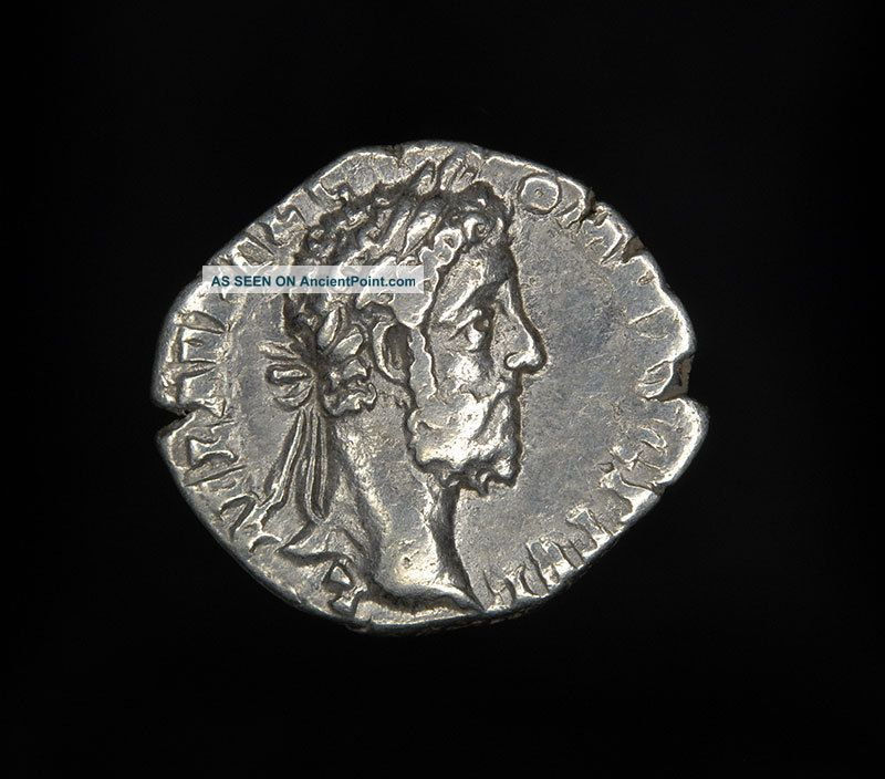 Ancient Roman Silver Denarius Fortuna Coin Of Emperor Commodus Roman photo