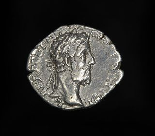 Ancient Roman Silver Denarius Fortuna Coin Of Emperor Commodus photo