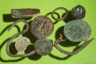 Ancient Roman Medieval Artifacts Jewelry Ring Silver Coin Antique Lot Old Fibula photo