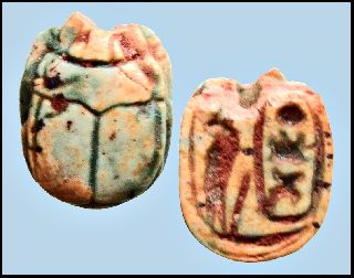 Ancient Egyptian Steatite Scarab Inscribed With Royal Name Thutmosis Iii photo