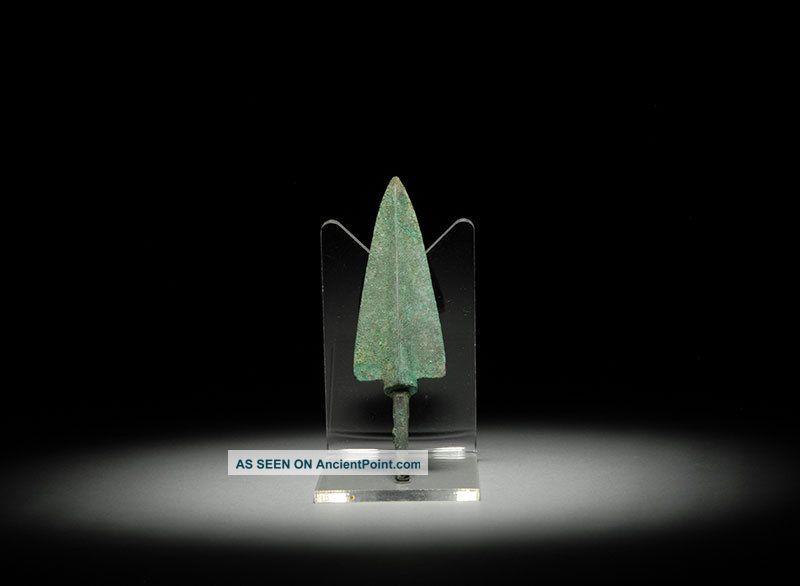 Ancient Persian Near Eastern Bronze Age Broad Battle Arrow Spear Head 1200 B.c. Near Eastern photo