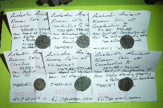 Collection Of Ancient Roman Coins Old Money Lot Artifact Treasure Group Antique photo