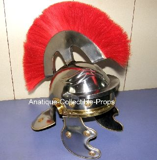 Roman Centurion Armor Helmet W/red Plume Roman Armory In The Field Of War photo