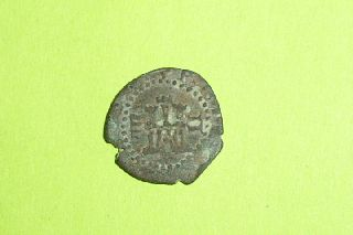 Authentic Medieval Castle Coin Rampant Lion Old Artifact Antique Spain Treasure photo
