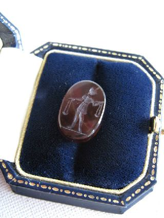Hardstone Intaglio Seal, Roman Style, Undated, Ex Gibbons Collection photo