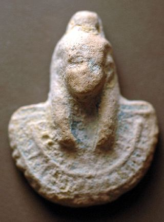 Aegis Amulet, Egyptian Faience Over 2000 Years Old Nr photo