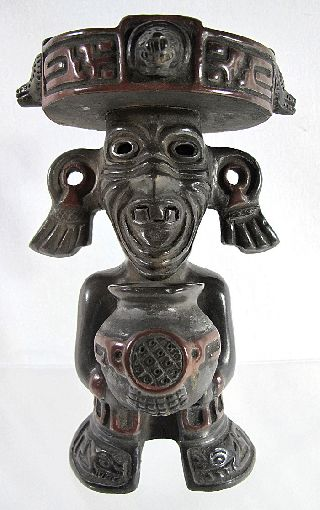 Early 20th Century Mexican Aztec Fire God Figurine Souvenir Statue Too Cool Yqz photo