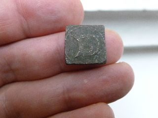 Early Coin Weight - Gothic D Enclosing B - Metal Detector Find - No. 2 photo