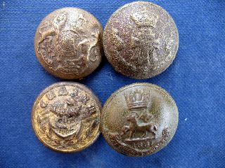 Old Military Buttons X 4 photo