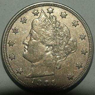 1883 Liberty V Nickel Very Detailed photo