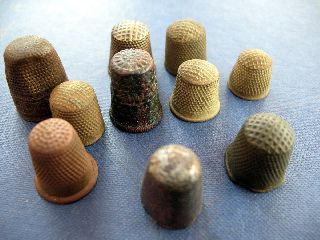 Thimbles X 10 Bronze And Copper photo