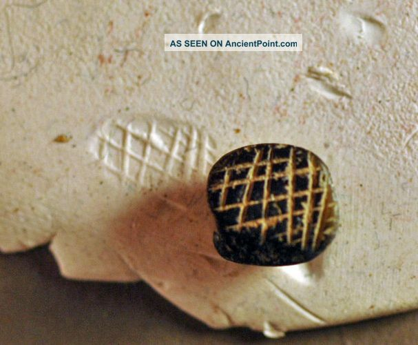 Stamp. Levantine Bronze Age Stone Over 3000 Years Old Nr Near Eastern photo
