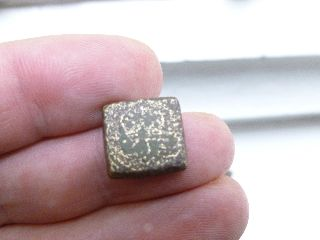 Early Coin Weight - A Crown - Metal Detector Find - No. 3 photo