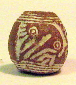 Pre - Columbian Brown Looking Down Bird Spindle Whorl Guaranteed. Authentic photo