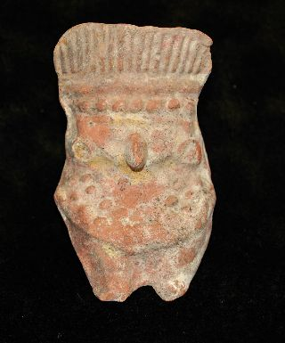 Ancient West Mexican Pre - Columbian Pottery Seated Owl Effigy Figure 3