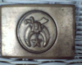 . Old & Rare Shriner Belt Buckle With Sword From 1950 ' S I Think Maybe Older photo
