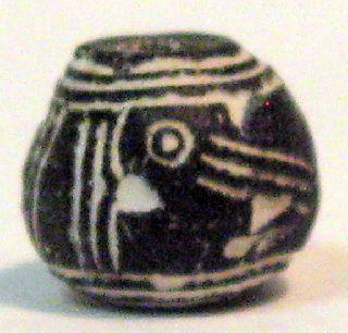 Pre - Columbian Black Large Beaked Bird Spindle Whorl Guaranteed. Authentic photo