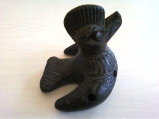 Antique Ocarina Bird Clay Whistle photo