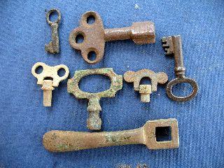 Keys 18th And 19th Century X 7 photo
