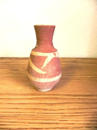 Antique / Ancient ? Painted Egyptain Terracotta Storage Jar In Good Condition photo