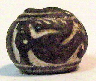 Pre - Columbian Black Animal On Its Back Spindle Whorl Guaranteed. Authentic photo