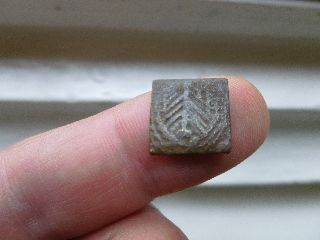 Unidentified Early Coin Weight - A Shield And A M Or W In A Wreath - Number 8 photo