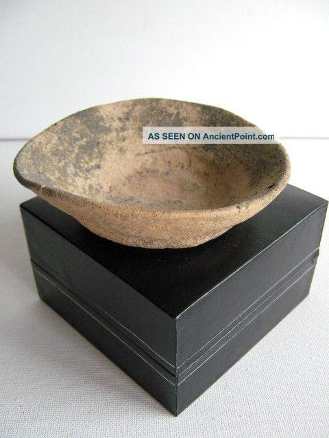 Neolithic Ceramic Near Eastern Buffware Dish Circa 3rd - 2nd Millennium Bc Near Eastern photo