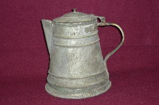 Ottoman Turkish Handmade Coffee Pot W/bronze Handle photo