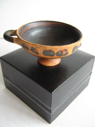 Undated Small Terracotta Kylix In Early Greek Style photo