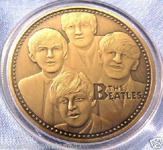 The Beatles Coin John Lennon Rock & Roll Pop Music Antique Brass Medal Retro photo
